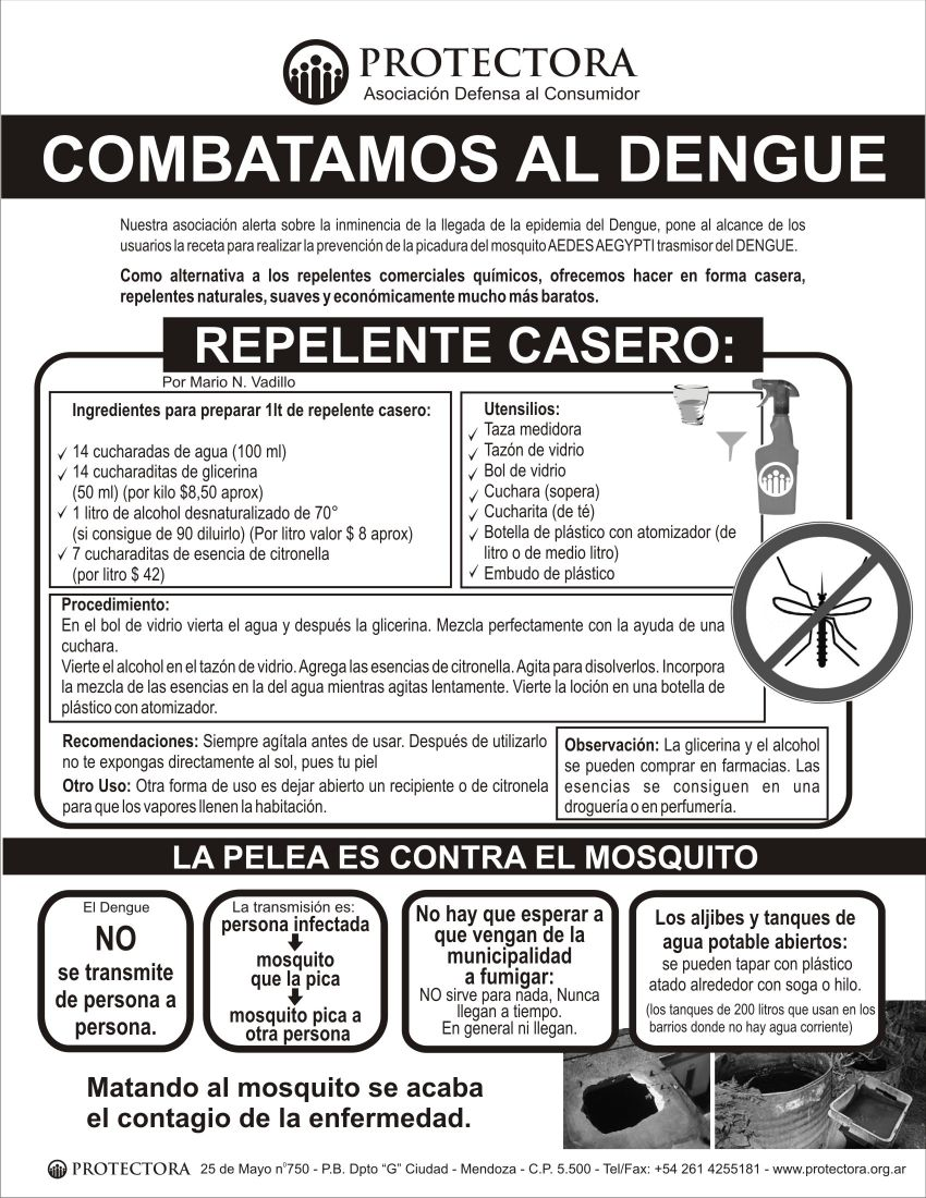 folleto dengue protectora faz frontal