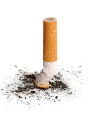 colilla cigarrillo campaña anti tabaco