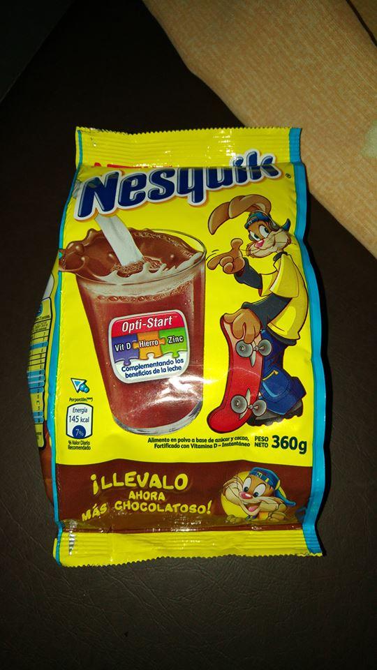"Nesquik, solo ""sabor a chocolate y demasiada azúcar"